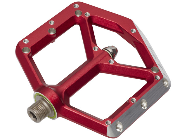 Spank Spike Flat Pedals red
